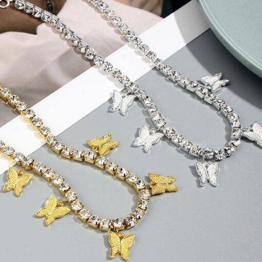 Vintage Butterfly Chain Necklace Necklaces