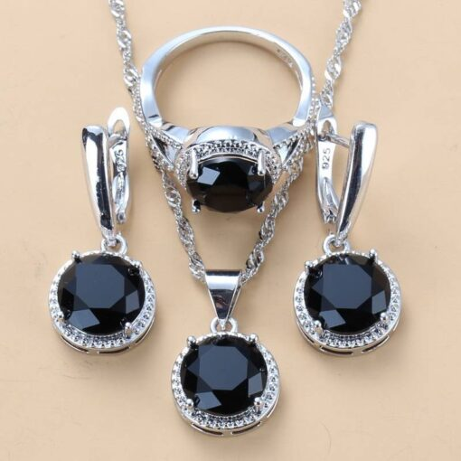 Silver Color Wedding Sets Jewelry Sets