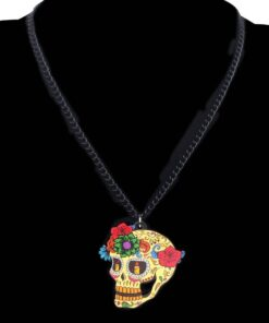 Floral Skull Earrings and Necklace Set For Women Jewelry Sets