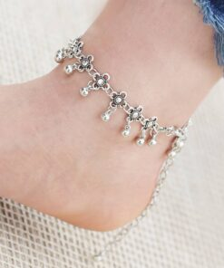 Bohemian Flower Charms Women's Anklet Anklets