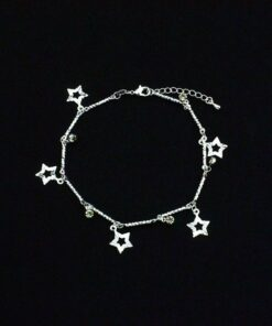Silver Ball Charms Women's Anklet Anklets