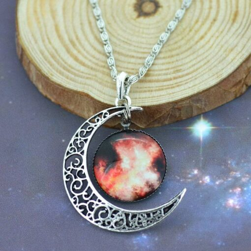 Crystal Moon Pendant Necklace for Women Necklaces