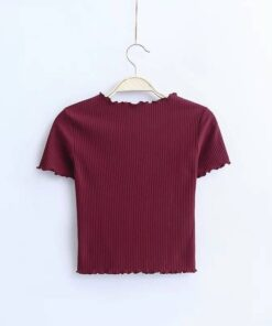 Vintage Slim Fit Short Sleeve Top for Women T-Shirts Tops & T-Shirts
