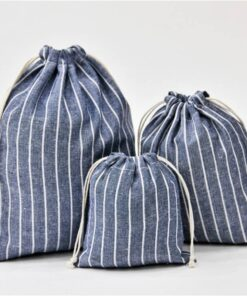 Cotton Reusable Shopping Bag in Stripes Luggage & Travel Bags Shopping & Tote Bags