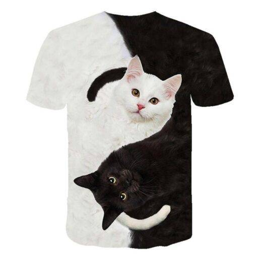 New for 2020 Cool fashion t shirt for men and women two cats print 3d t shirt summer short sleeve t shirts male t shirts XXS-6XL T-Shirts Tops & T-Shirts Women's Clothing